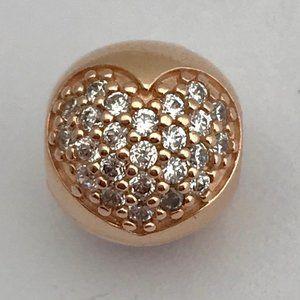 PANDORA Love of My Life Rose Gold Clip Charm, New